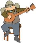 Cowboy with banjo